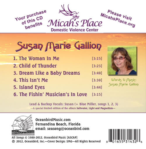 Susan Marie Gallion CD back cover